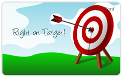 Right On Target Card