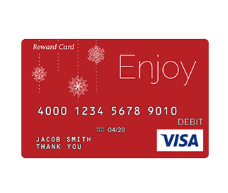 Prepaid cards, including Visa gift cards, for incentive programs